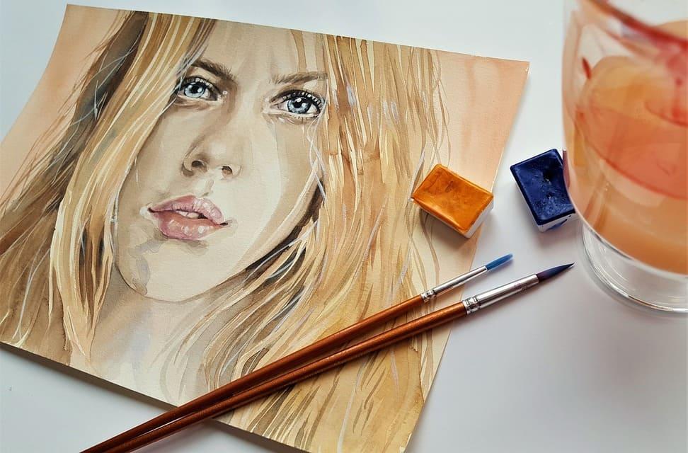 un portrait à l'huile sur toile